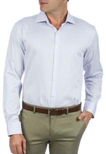 Camisa Social Masculina Upper Lilás Xadrez