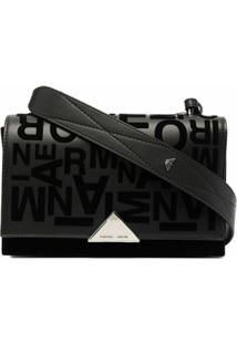 Emporio Armani Logo Shoulder Bag - Preto