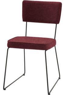Cadeira Milan Vermelha Base Preta - 55889 Sun House