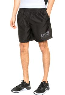 Bermuda Calvin Klein Performance Athletic Preto