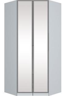 Módulo Canto Closet Com Espelho 02 Portas Exclusive M226-Henn - Branco
