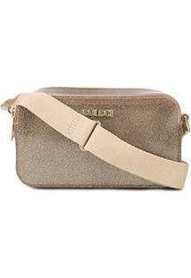 Bolsa Colcci Santorini Mini Bag Feminina - Feminino-Ouro