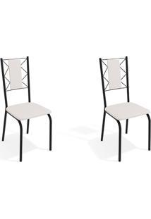 Conjunto Com 2 Cadeiras De Cozinha Lisboa Preto E Branco
