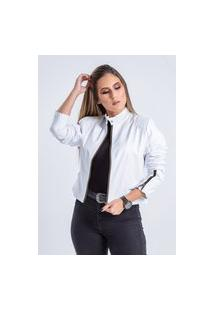 Jaqueta De Couro Parra Couros Bx Branco