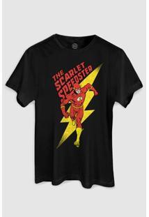 Camiseta Dc Comics The Flash The Scarlet Bandup! - Masculino-Preto