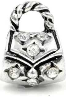 Berloque W.Buscatti Bolsa Cristal Prata