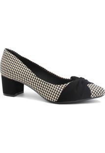 Sapato Scarpin Dmoon Salto Baixo Preto