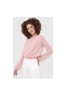 Blusa Calvin Klein Xadrez Amarração Rosa