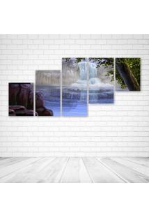 Quadro Decorativo - Beautiful Nature S For Desktop Hd - Composto De 5 Quadros - Multicolorido - Dafiti