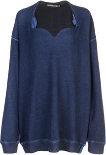 Y/Project Blusa De Moletom Com Decote Coração - Azul