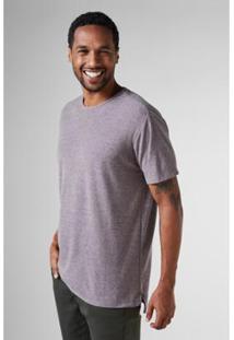 Camiseta Regular Crepe Mescla Reserva Masculina - Masculino-Cinza