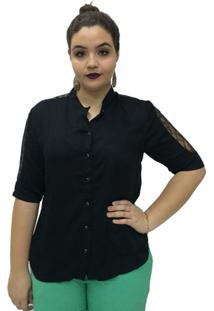 Camisa Lisa Moché - Feminino-Preto