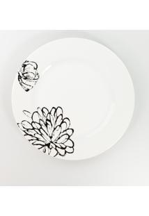 Conjunto De Pratos Rasos Porcelana Schmidt 06 Peças - Dec. Bianca
