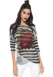 Camiseta Desigual Magdalena Cinza