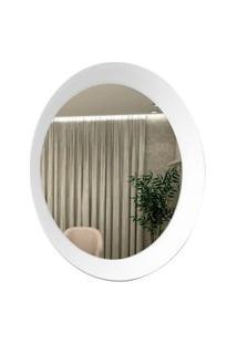 Espelho Decorativo Paella Branco 60 Cm Redondo
