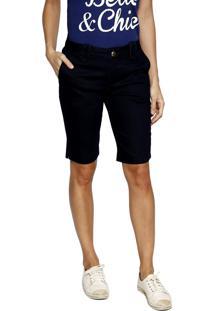 Bermuda Energia Fashion Azul Marinho Jeans Indigo