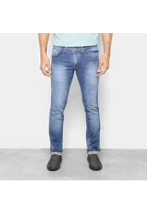 Calça Jeans Slim Biotipo Estonada Masculina - Masculino-Azul