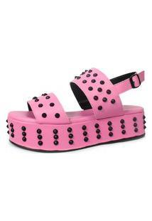 Sandália Birken Damannu Shoes Patty Spikes Rosa