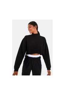 Blusa Cropped Moletom Ml