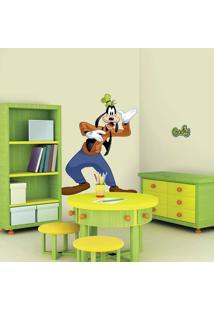 Adesivos De Parede Roommates Colorido Mickey & Friends - Goofy Peel & Stick Giant Wall Decal - Branco - Sintã©Tico - Dafiti