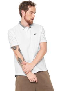 Camisa Polo Timberland Logo Branca