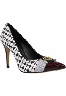 Sapato Jorge Bischoff Scarpin Croco Roxo