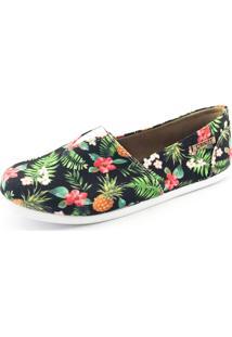 Alpargata Quality Shoes 001 Abacaxi Preto - Kanui