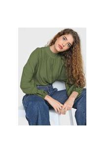 Blusa Colcci Drapeados Verde