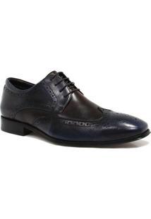 Sapato Zariff Shoes Social Brogue - Masculino-Azul