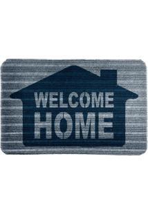 Capacho Carpet Welcome Home Azul Único Love Decor