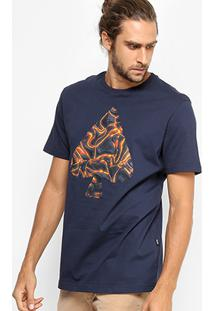 Camiseta Mcd Regular Vulcano Masculina - Masculino-Marinho