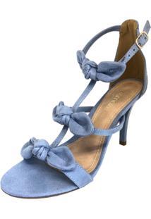 Sandália Osmoze Salto Fino Laços - Feminino-Azul Claro