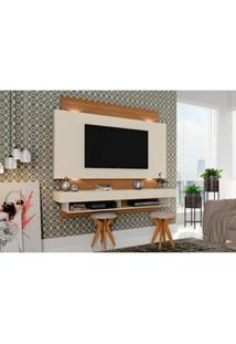 Painel Para Tv Bancada Suspensa Com Led Tb115L Off White/Freijó - Dall