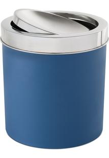 Lixeira Ps Azul Tampa Basc. Brinox Azul