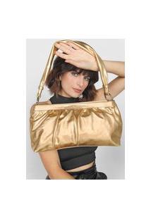 Bolsa Jorge Bischoff Metalizada Dourada