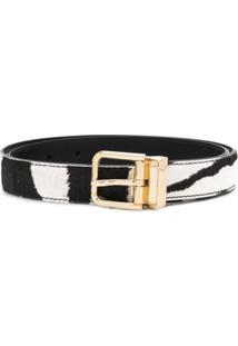 Dolce & Gabbana Cinto De Fivela Com Padronagem De Zebra - Preto