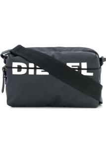 Diesel Bolsa Transversal Com Estampa De Logo - Preto