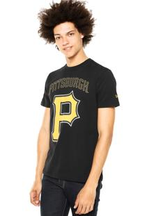 Camiseta New Era Logo Pittsburgh Preta