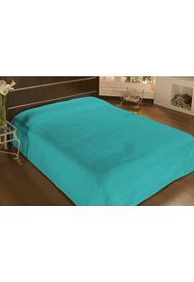 Cobertor Solteiro Microfibra Liso 1,50X2,20M Verde Petróleo - Camesa