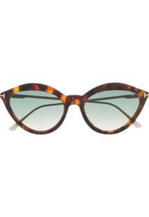 Tom Ford Eyewear Round Frame Sunglasses - Dourado
