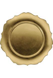 Sousplat Versalhes Dourado