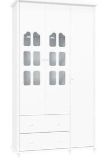 Guarda-Roupa Provence 3 Portas Branco Fosco - Matic Móveis
