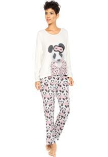 Pijama Pzama Panda Bege/Rosa