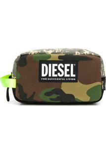 Diesel Nécessaire Com Estampa Camuflada - Verde