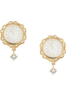 Dolce & Gabbana Brincos De Pressão Dourados - Metálico