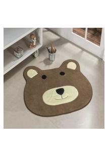 Tapete Formato Feltro Antiderrapante Urso Castor