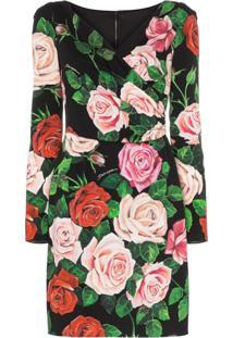 Dolce & Gabbana Vestido Envelope Com Estampa Floral - Hnx46 Multicoloured