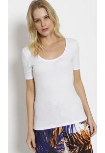Camiseta Lisa Canelada - Brancacanal