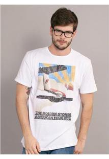 Camiseta Bandup The Rolling Stones American Tour - Masculino-Branco