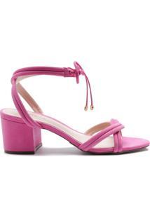 Sandália Block Heel Pink   Schutz